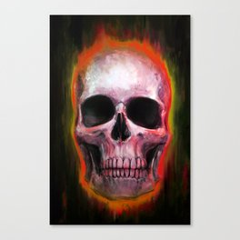 Orange Skull Canvas Print