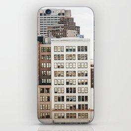 Woodward Avenue, Downtown Detroit Storefront Buildings iPhone Skin