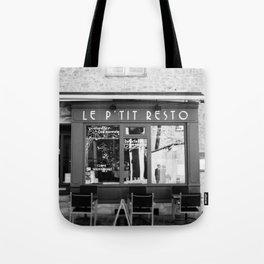 Le P'tit Resto  //  France - travel photography Tote Bag