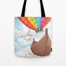 PEGASUS and RAINBOW AIR BALLON Tote Bag