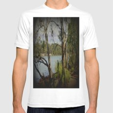 The Mighty Murray River MEDIUM Mens Fitted Tee White