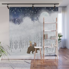 the white forest Wall Mural