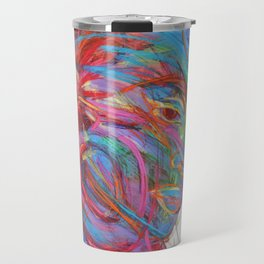 Colorful Screaming Faces Travel Mug