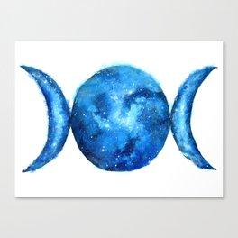 Triple Moon Goddess | Full Moon | Crescent Moon | Moon Phases Canvas Print