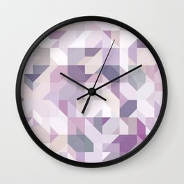 Pastel Purple Geometric on Linen Wall Clock