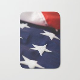 Focus On American Flag Star Bath Mat
