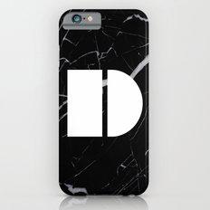 Black Marble - Alphabet D Slim Case iPhone 6s