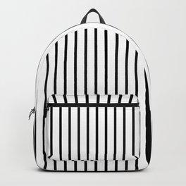 Black Pinstripe On White Pattern Backpack