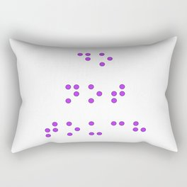Do Not Touch in Braille in Purple Rectangular Pillow