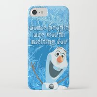 olaf iPhone & iPod Cases featuring OLAF by DisPrints