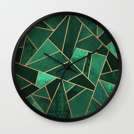 Emerald and Copper Wall Clock