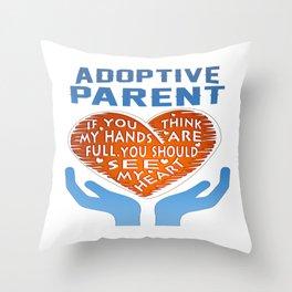 Adoptive Parent Throw Pillow