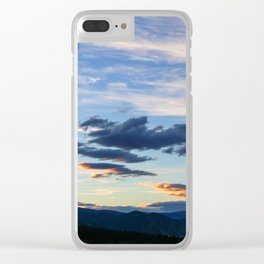 Mountain Sunset III Clear iPhone Case