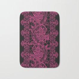 Pink Yarrow Lace Bath Mat