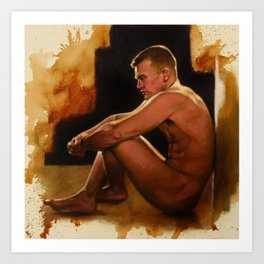 Seated Nude Art Print