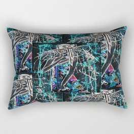 Lady in red neon Rectangular Pillow