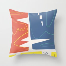 The three primaries abstract Throw Pillow