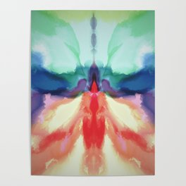Rainbow Butterfly Abstract Poster