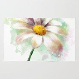 Daisy watercolor - flower illustration Rug
