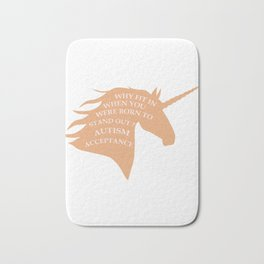 Makes a great gift Tee Acceptance Design Stand out Bath Mat