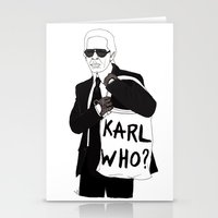 karl Stationery Cards featuring Karl by Les Gutiérrez