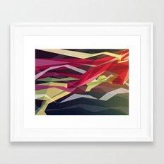 Running Man Framed Art Print