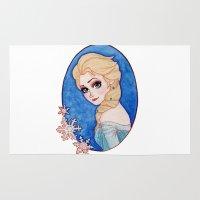 frozen elsa Area & Throw Rugs featuring Elsa - Frozen by Naineuh
