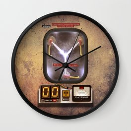 Time machines flux capacitor iPhone 4 5 6 7 8 x, tshirt, mugs and pillow case Wall Clock