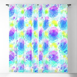 Psychedelic Mandala Art Design With Bright Colors Pattern Blackout Curtain
