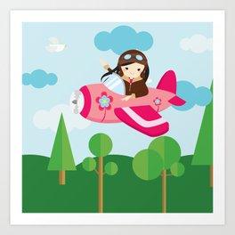nursery decor , children gift, birthday gift Art Print