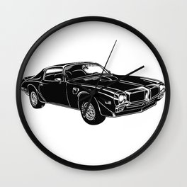 Trans Am Muscle Car Wall Clock