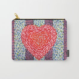 High Energy Squiggle Heart - Impressionist Heart Art Carry-All Pouch