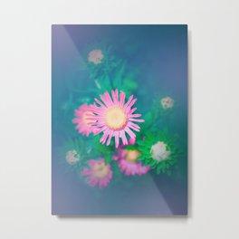 Constellation Pink Flowers Metal Print