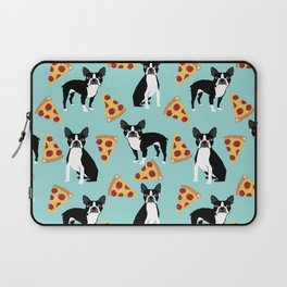 boston terrier pizza dog lover pet gifts cute boston terriers pure breeds Laptop Sleeve