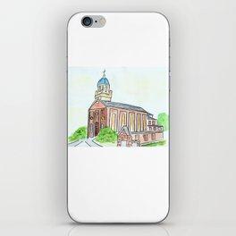 University of Dayton watercolor, UD Chapel, Dayton, OH iPhone Skin