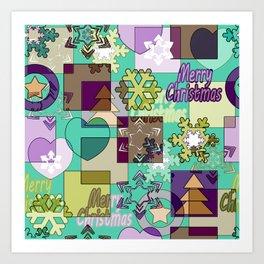Christmas patterns 7 Art Print