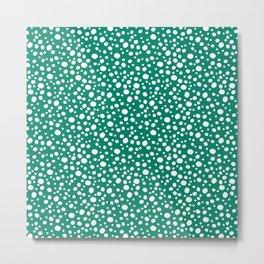 Deep Summer - Green Bubbles Metal Print