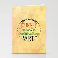 the hobbit Stationery Cards featuring Hobbit Party by Purrito Press