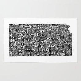 Typographic Kansas Rug