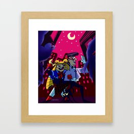 Kickin' Butt By Moonlight Framed Art Print