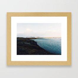 From the other side, Jökulsárlón, Iceland Art Print Framed Art Print
