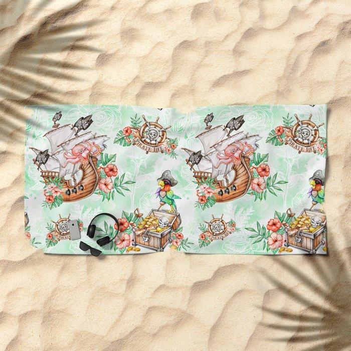 Pirate #1 Beach Towel