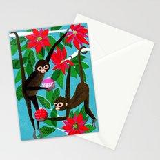 Spider Monkeys Holiday Card Stationery Cards