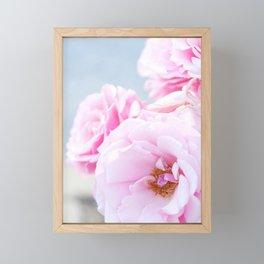 Blushing Roses Framed Mini Art Print