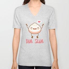 DIM SUM Funny Dumplings Asian Food Fan Gift product Unisex V-Neck
