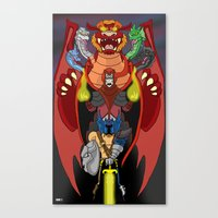 dungeons and dragons Canvas Prints featuring Escalating Evil in the Realm of Dungeons and Dragons by Tom Krohne