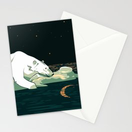 Polar Bear and the Moon Stationery Cards