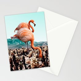 Flamingos In The Desert #society6 #artprints #flamingo Stationery Cards