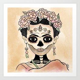 Catrina Frida in Dia de Muertos Art Print