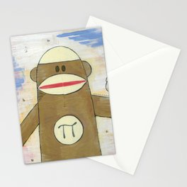 Sock Monkey 270: Pi Monkey and Infinity Owl Stationery Cards